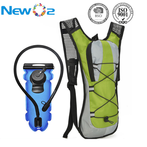 Multi color cheap top quality nylon waterproof hydration backpack for sports