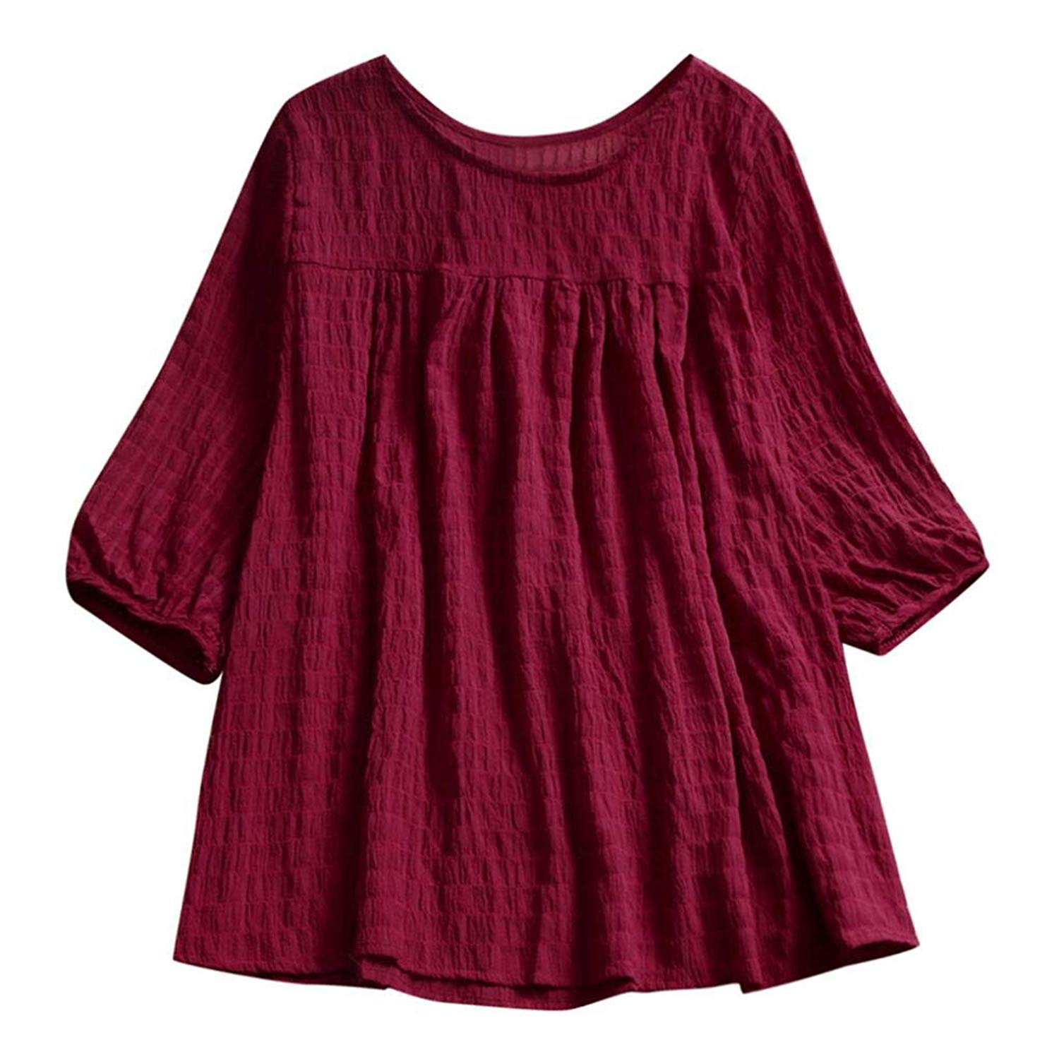 Clearance Women Tops Shirts Plus Size,Casual Half Sleeve Crewneck Loose Tops Blouse Pullover