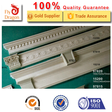 High quality polyurethane moulding 351500 exterior window molding