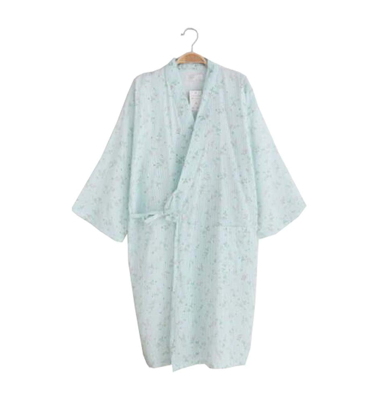 DRAGON SONIC Ladies Lightweight Cotton Dressing Gown Bathrobe - Kimono Robe  100% Cotton - 763068558