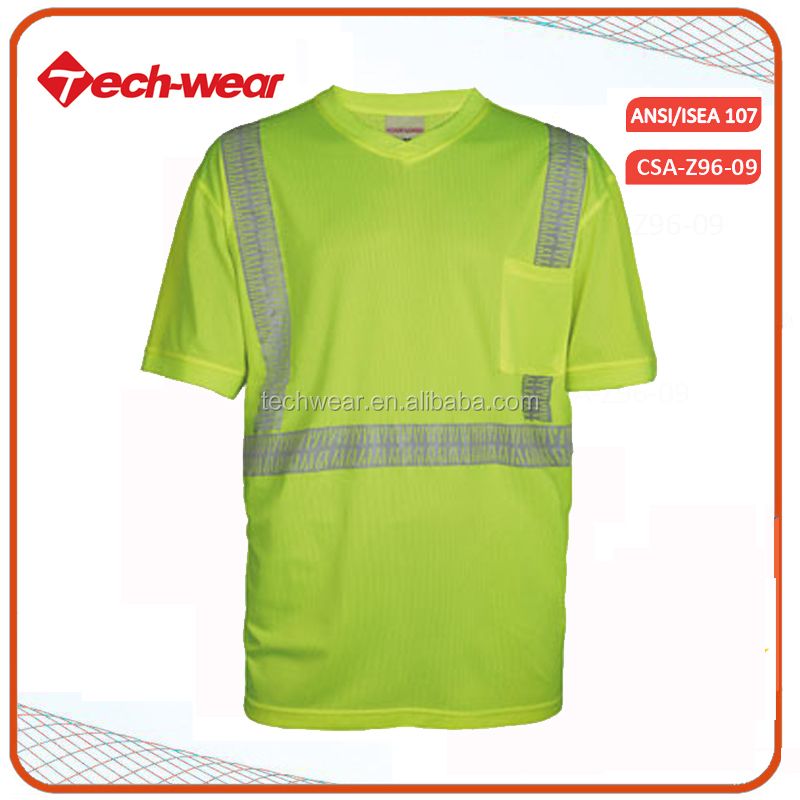 Wholesale Hi Vis polo shirt reflective safety security clothing