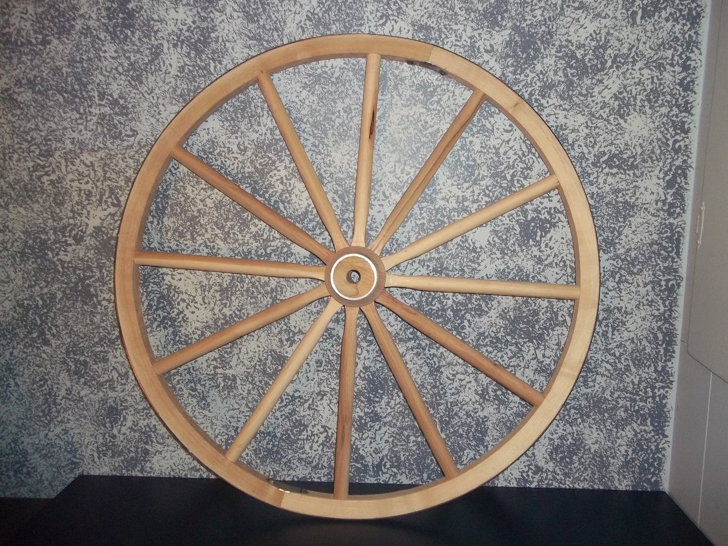 Get Quotations Steam Bent Hickory Wood Western Wagon Wheel For Home And Garden Decor 30 X 1