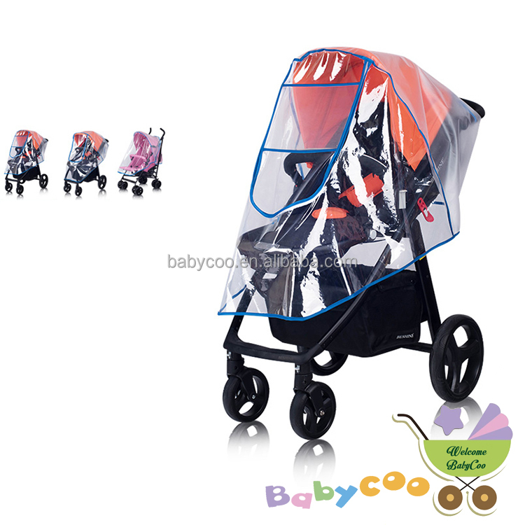 Baby Stroller Accessories Universal Waterproof Rain Cover Wind Dust Shield Zipper Open For Baby Strollers Pushchairs To Enjoy High Reputation At Home And Abroad Activity & Gear