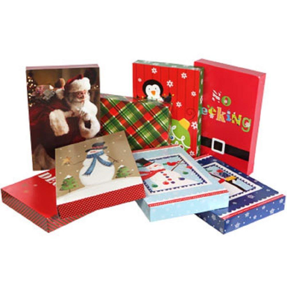Christmas-Print Shirt Gift Boxes, 3-ct. Packs