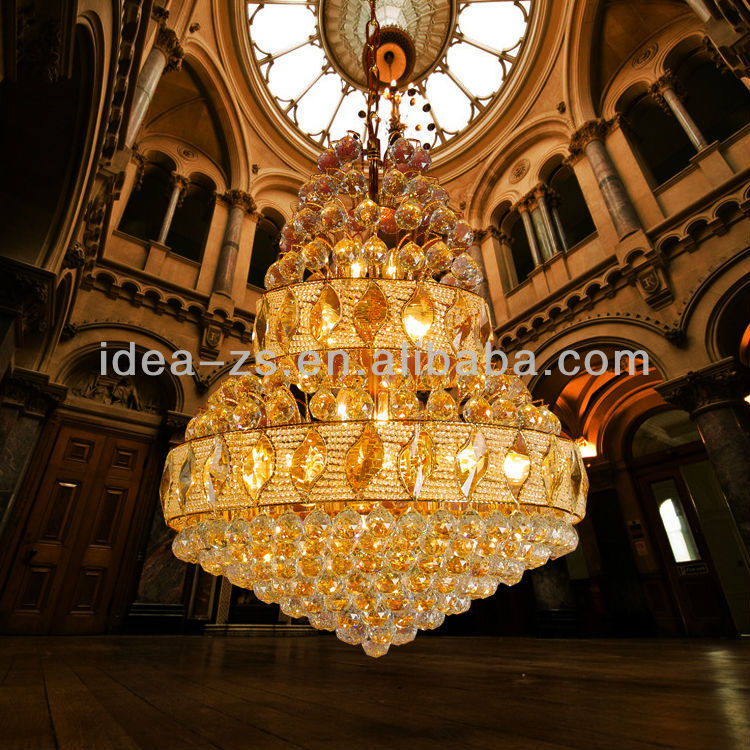 Giant Chandelier Tea Light Modern Crystal Glass Chandelier