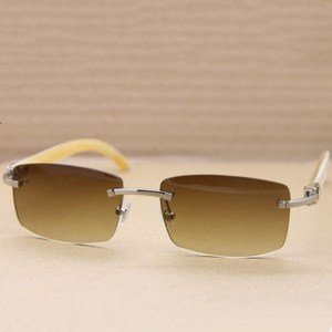 cow horn sunglasses,men luxury materials white cow honer leg sunglasses