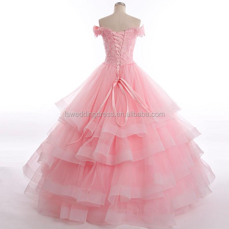 Rsm6675 Off Shoulder Layers Big Skirt Wedding Gown Sample Pictures ...