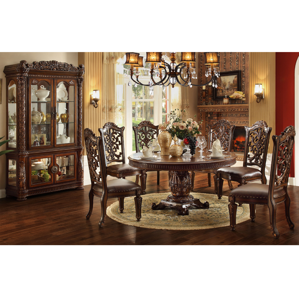 High Quality 6523 Round Marble Dining Table With Lazy Susan Buy