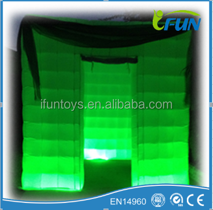 Inflatable photo booth with camera for sale /wedding photo enclosure /inflatable led photobooth for weddings