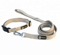 Pet Eco-Friendly durable 100% hemp dog collar matching leash available