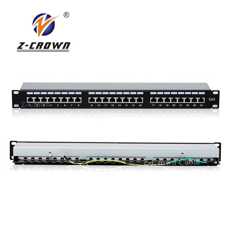 24 port Cat5e Cat6 UTP Blank 19'' 1U Patch Panel with Keystone Jack