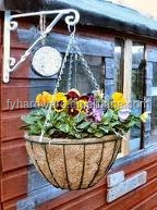 wire iron wall hanging baskets on sale