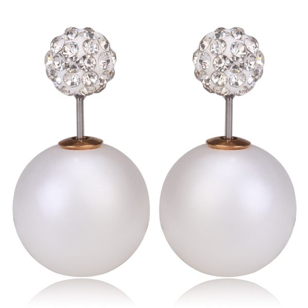 Boucle d'oreille imitation dior perle