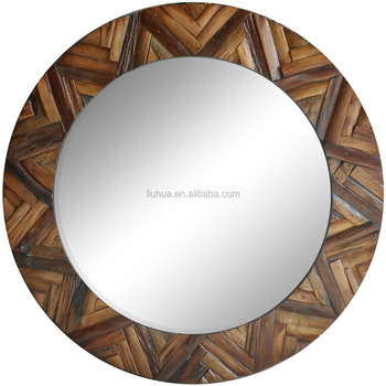 frame mirror wooden round mirror for home decorate - buy handmade