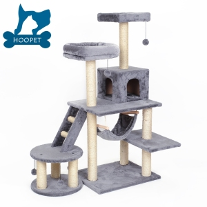 BSCI Pet Factory Wholesale 2017 New Cat Tree House,Cat Scratching Tree,Climbing Wooden Cat Furniture