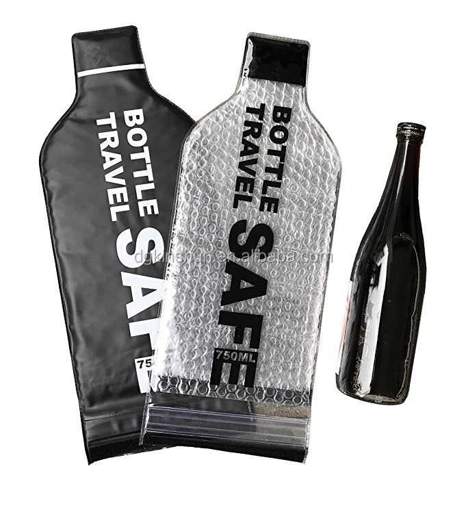 2 Pack Best for Air Travel - Reusable, Leak-Proof Carrier Tote Wine Bottle Holder Travel Bag