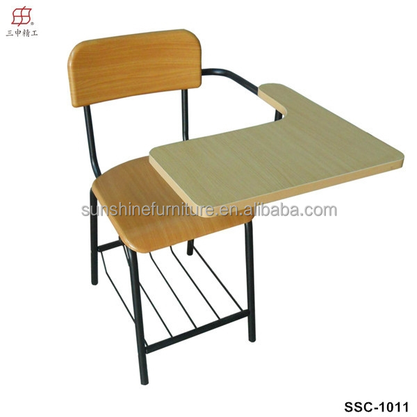 china factory plywood with melamine iron tube material and school