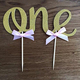 Handmade Gold Glitter 1st First Birthday Cake Topper Decoration