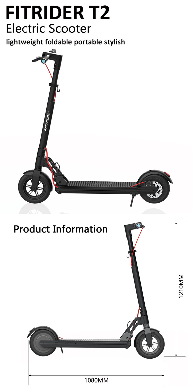 80Miles Long-range Swappable Battery Easy Fold and Lightweight Fitrider T2 AdultElectricScooter