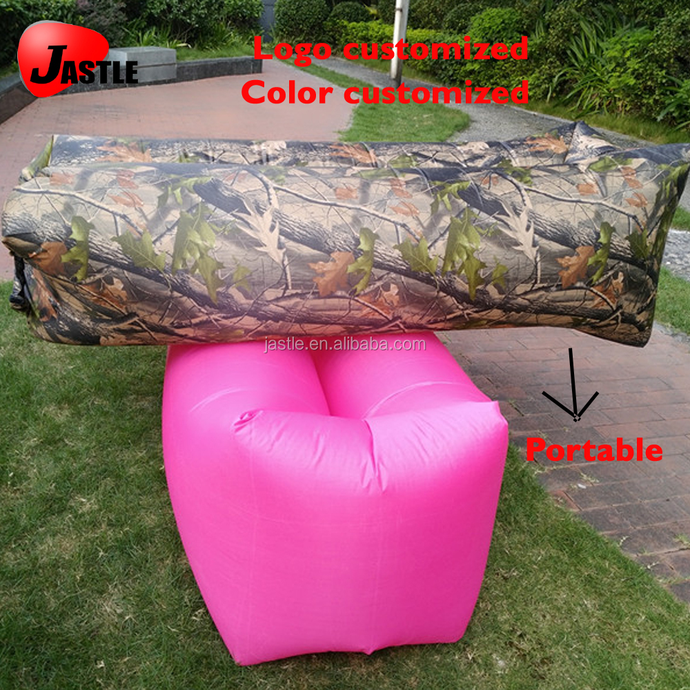 Waterproof Inflatable Air Sofa Bed 260*70cm Camouflage Lounger Camping Lazy Bag Banana Outdoor Sleeping Bag Bean B