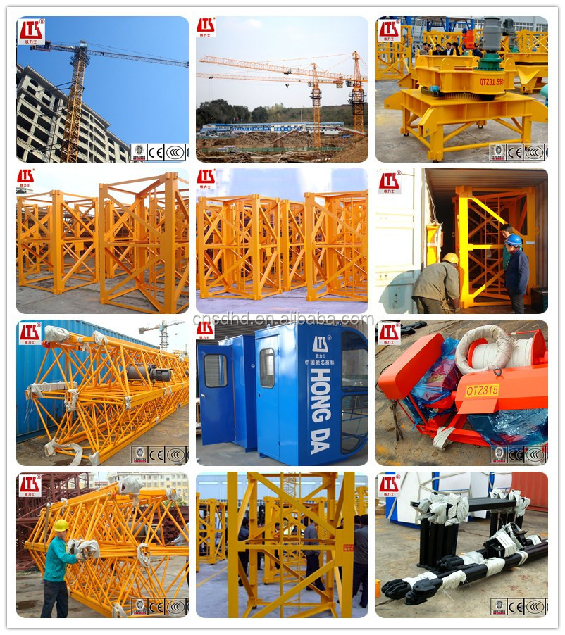 QTZ31.5 Tower Crane 3t Tower Crane 38m 40m 42m Jib Length Tower Crane