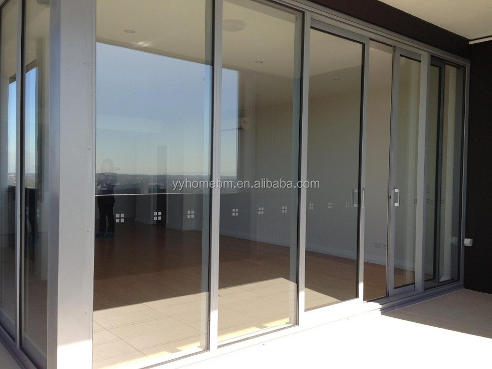 Yy home main door design commercial double glass door for Sliding main door