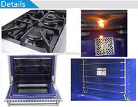 Commercial convection fan 4 Burner Gas Range With Oven