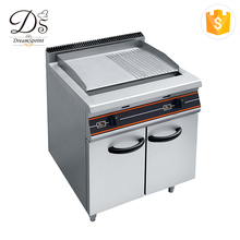 Commercial induction 9KW half flat electric griddle with cabinet
