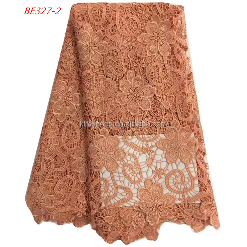 New Embroidery Design African Net Lace Fabric Mesh Tulle Lace Nigerian French Guipure Cord Lace Cheap BE327-2