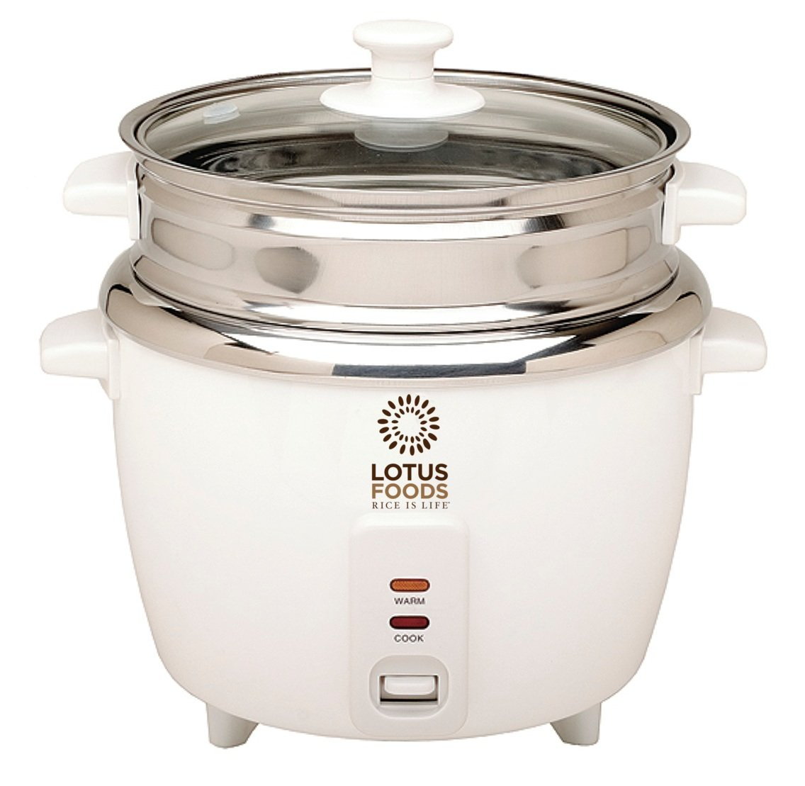 Lotus Foods Gourmet Stainless Steel Rice Cooker and Steamer, 12 Cup Capacity