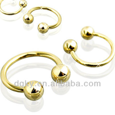 Factory cheap price nose ring piercing gold nose jewelry
