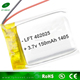 small rechargeable li-polymer battery 402025 3.7v 150mah li-polymer battery for flash light/bluetooth