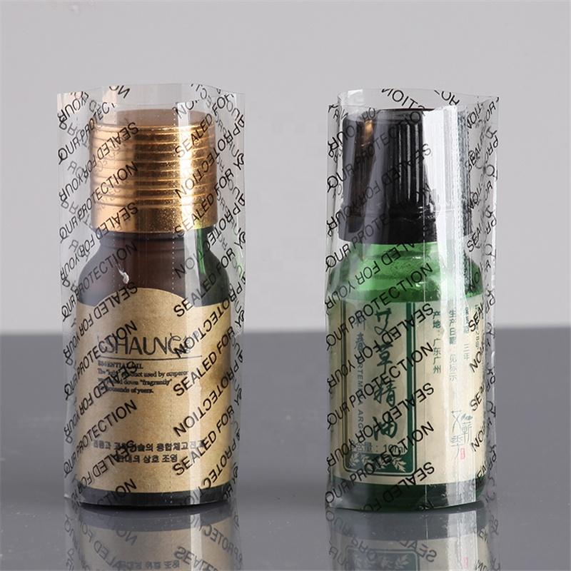 Schrumpfschlauch Label für Glas oder Kunststoff Flasche Kappe Abdichtung
