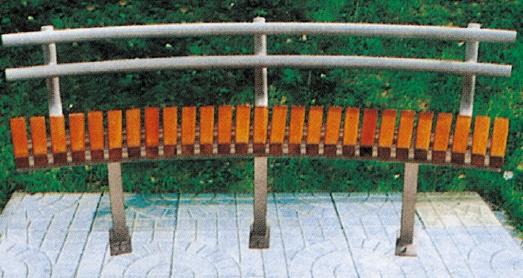 Galvanized Steel And Solid Wood Garden Bench /metal Patio Bench Outdoor  Patio Bench QX