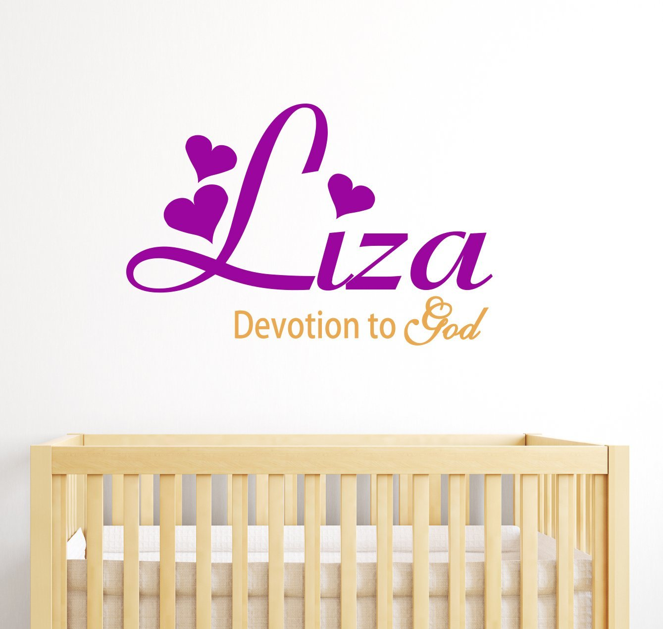 Liza Personalized Baby Name Meaning Wall Decals For Babies Boys Kids Custom Names