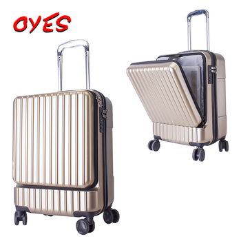 f2c86e98ccbf ABS+PC hard case Front Opening Luggage 20 inch 24 inch descent suitcase  travelmate delsey