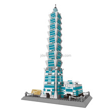 WANGE Classic Architectural Models Of Famous Buildings Of Taibei 101 building block
