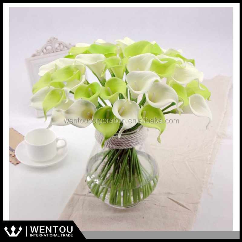 Wholesale Real Touch PU Silk Artificial Flower Calla Lily