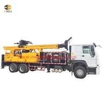 6x4 Howo truck mounted hydraulic deep hole borehole drilling machine