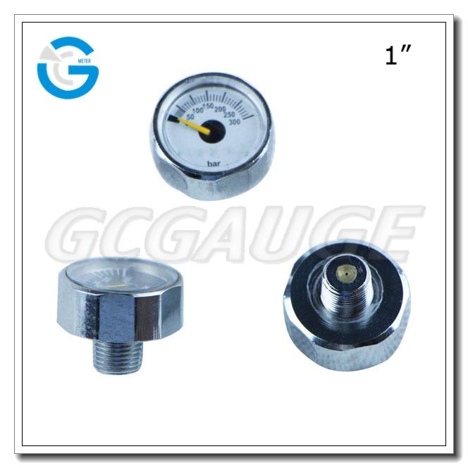 High Quality 23mm 25mm 300bar Air Pressure Gauge 1