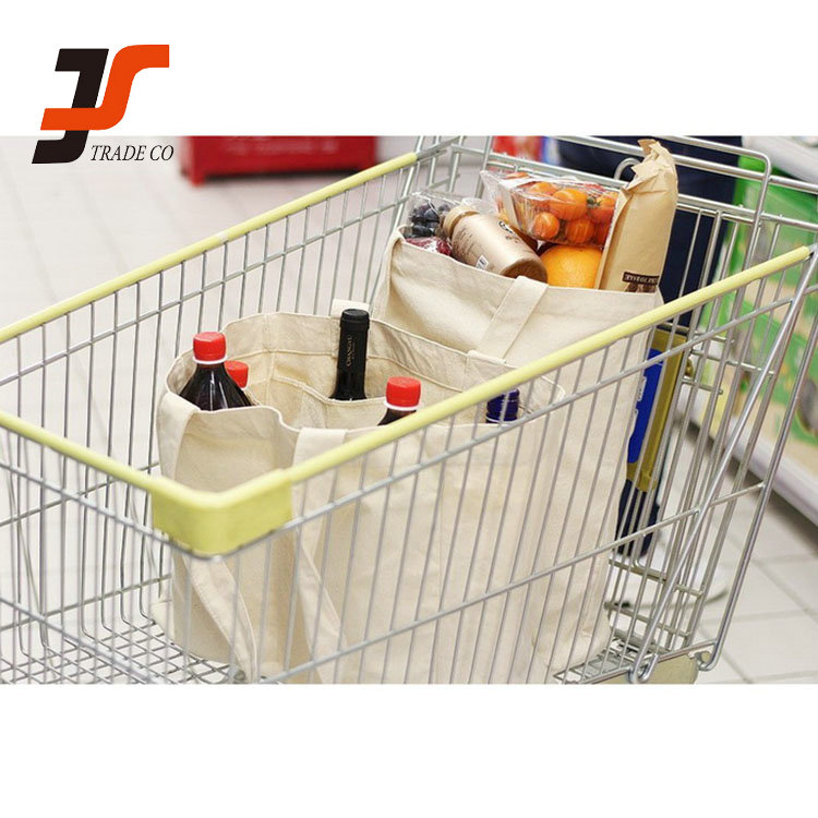 High quality white reusable polyester grocery cart shopping bag