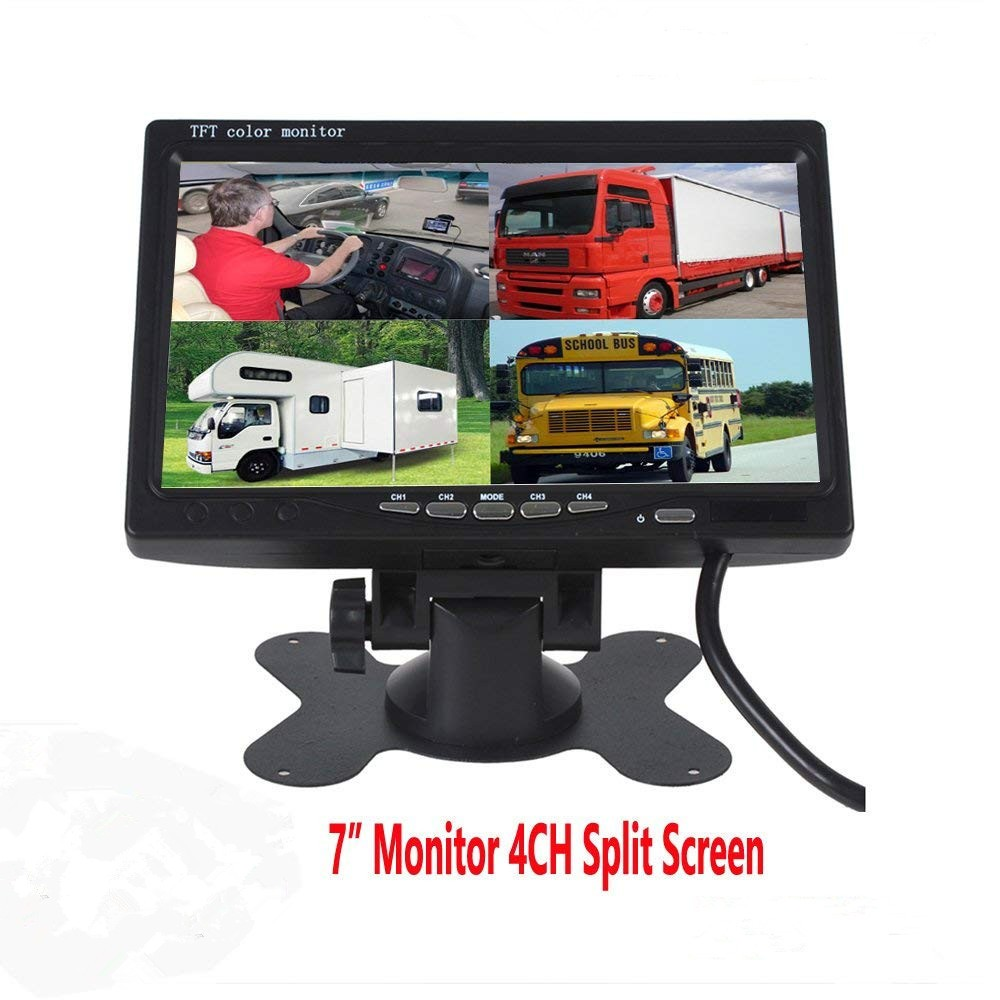 7 inches rear view monitor high resolution rear view display truck Quad dispaly