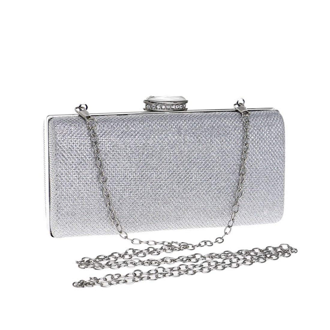db324cd0d08 Get Quotations · Fly Fashion Evening Bag Ladies Sequin Dress Evening Dress  Clutch evening bag (Color   Silver