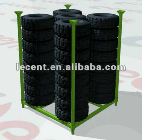 Stackable Post Pallet Shelving for Light Truck tyre storage