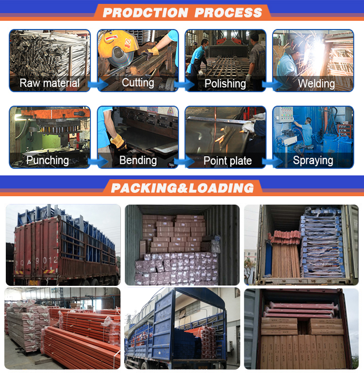 Customized High Quality Connected Rack Shelving heavy duty combined racking system steel Shelves