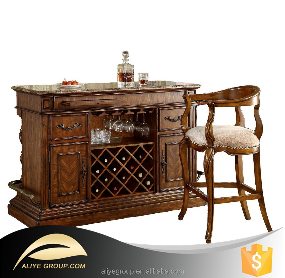 Wood Home Bar Furniture: 8019a-31-wholesale Solid Wood Furniture Used Home Bar