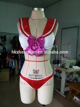 Adult carnival walson Ladies red sailor moon mars bra set costume