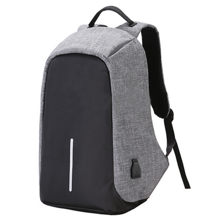 with usb charger Cationic fabric polyester vintage laptop bag business back pack rucksack