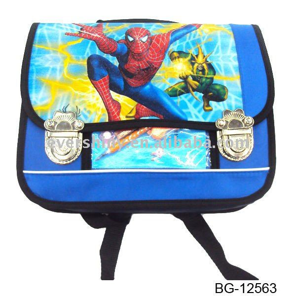 2011 mix style hot seller cartoon children school backpack with two cord handle