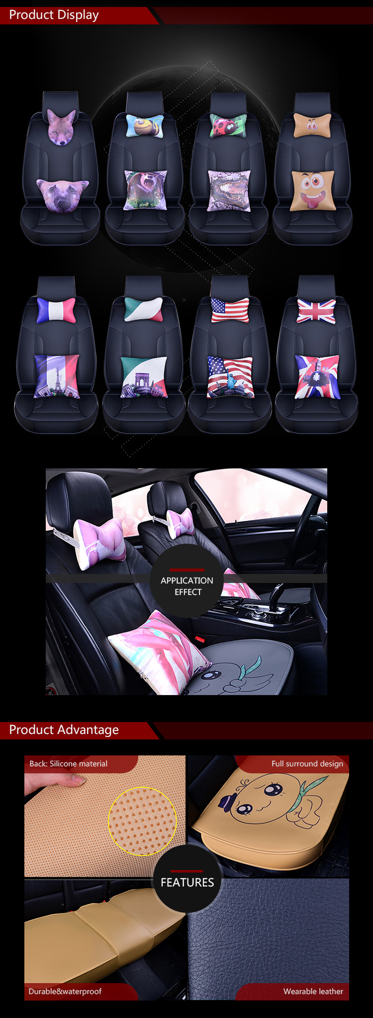 Fashionable High Quality Leather Car Seat Cover